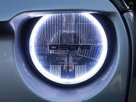 halo theme jeep delta tech 7 quot bar xenon halo headlight kit