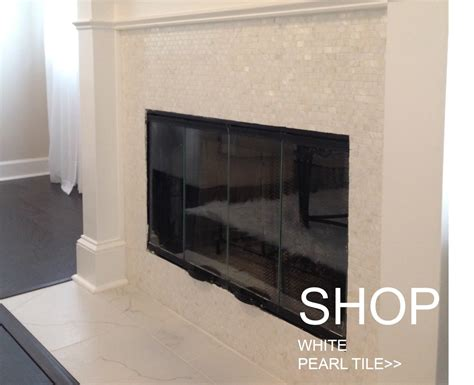 Mother Of Pearl Subway Tile Backsplash - enhance your fireplace surround with mother of pearl tiles tile circle
