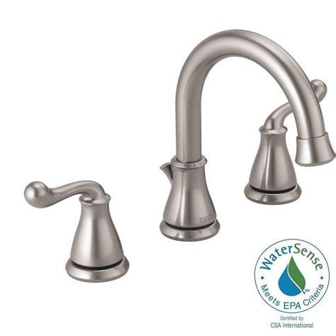 delta bathroom faucets brushed nickel delta brushed nickel widespread faucet widespread brushed