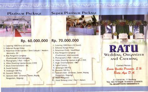 contoh desain brosur wedding gt paket catering pernikahan ck wedding organizer