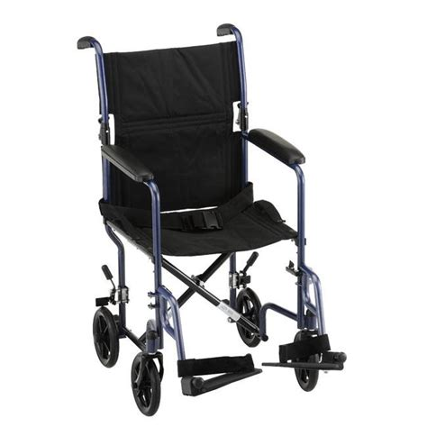 19 quot steel transport chair standard transport