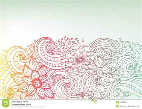 background design doodle doodle color floral background stock illustration image