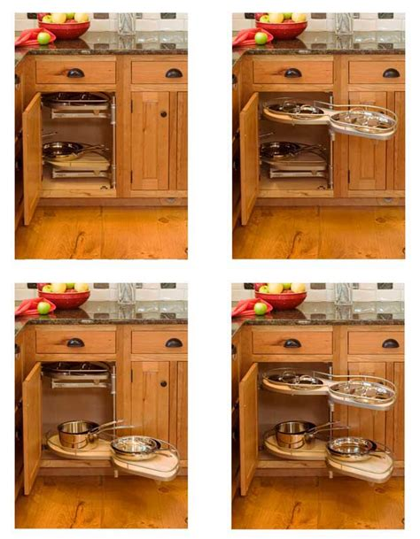 Blind Corner Kitchen Cabinet Organizers by Organize Your Cabinets Custom Cabinets