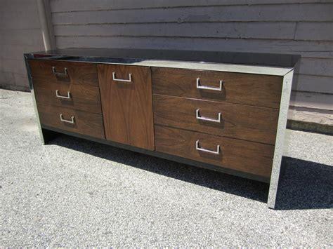 mid century modern black dresser milo baughman black lacquer and rosewood dresser mid