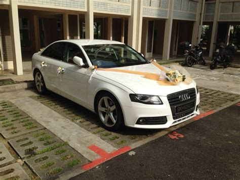 Audi Hochzeit by White Audi A4 With Car Plate For Wedding Occassions