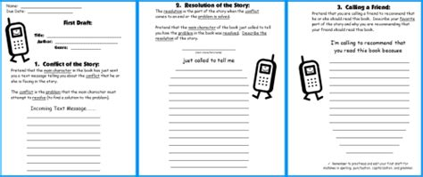 mobile book report template cell phone book report project templates worksheets grading rubric and more