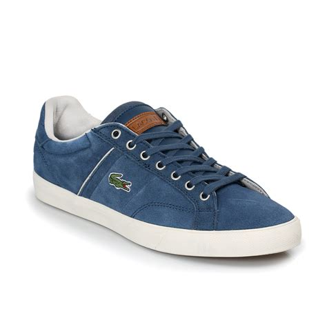 lacoste sneakers mens lacoste fairlead blue grey mens trainers sneakers shoes