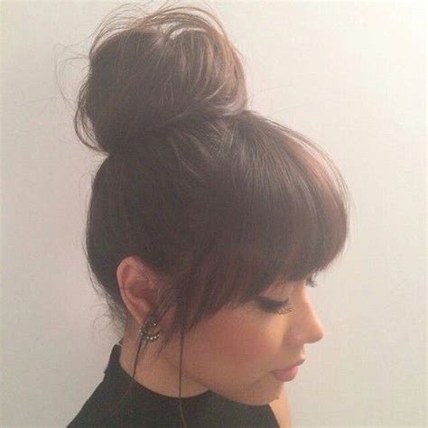 easy to manage short hairstyles with fringe 25 best ideas about straight bangs on pinterest bangs