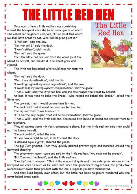 The Hen Worksheets Free by Hen Report Speech Worksheet Free Esl