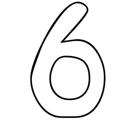 coloring page of number 6 color by number printables number 6 color by number org