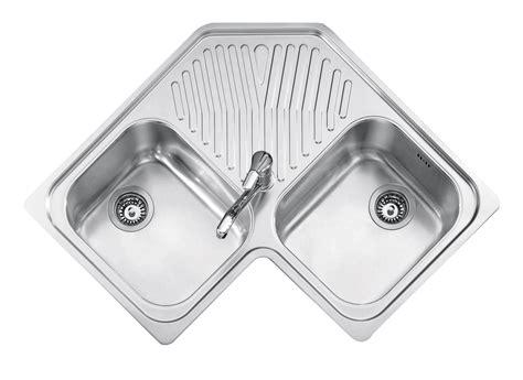 lavelli angolo incasso inox 83x83 2 vasche ad angolo gocciolatoio