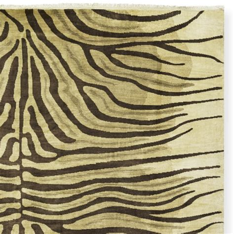 beige zebra rug knotted zebra rug swatch beige chocolate williams sonoma