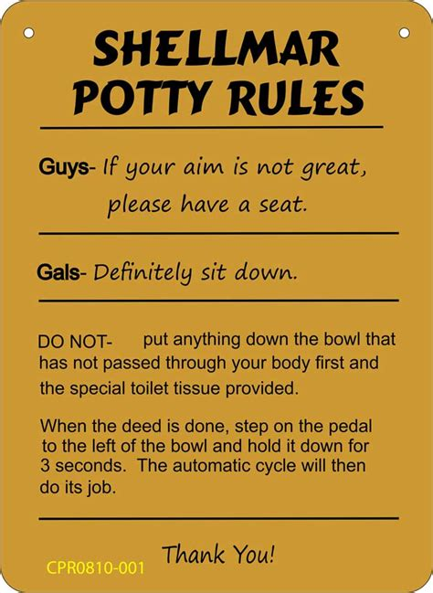 boating rules personalized boating potty rules