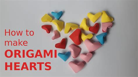 how to make small origami hearts how to make mini origami