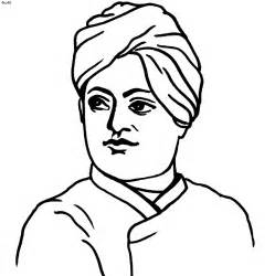 free coloring pages of swami vivekananda outline