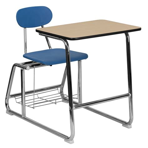 Desk Chair Combo Wood Home Decor Takcop Com Student Chair Desk Combo