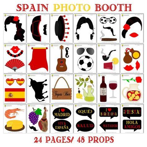 printable photo booth props fiesta printable spain photo booth props photo booth sign spanish