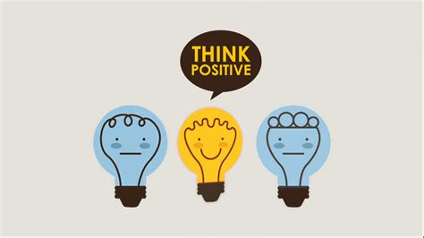 Think Be Positive think positive design animation stock footage
