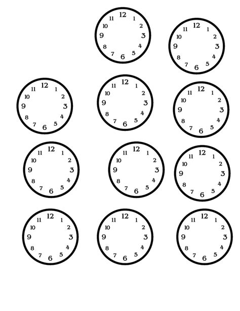 blank time worksheets blank clock faces printable activity shelter