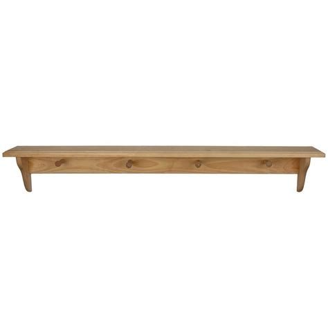 home depot decorative shelves houseworks 46 in x 5 1 4 in unfinished wood decor shelf