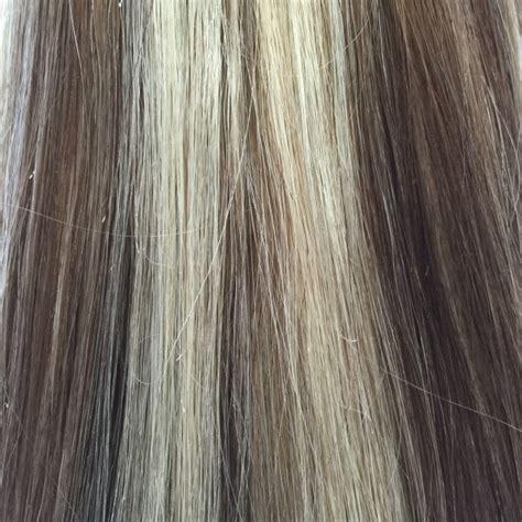 platinum clip in hair extensions medium brown platinum 6 60 18 inch clip in human