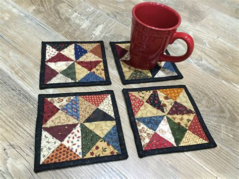 Patchwork Coasters - patchwork coasters quilted coasters item 1343