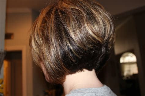 short stacked haircut so fun michele busch short