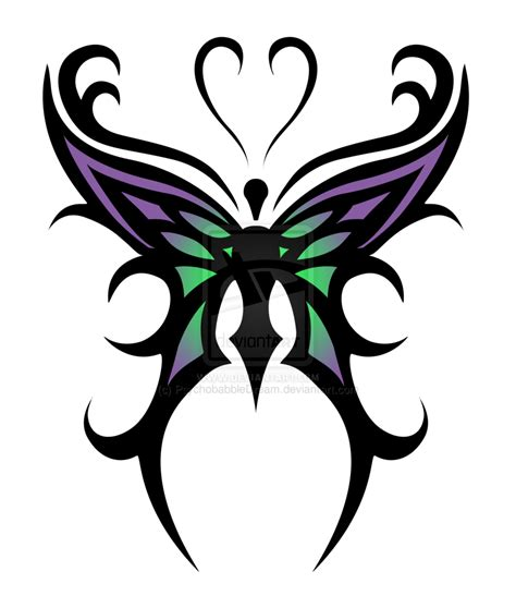 stunning tribal butterfly tattoo design tattoobite com