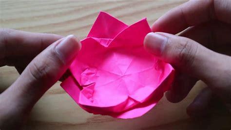 cara membuat origami bentuk bunga teratai cara membuat bunga teratai dari origami mudah tapi indah