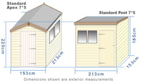 Standard Shed Sizes by Standard Shed Range
