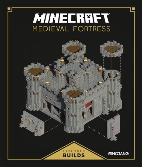 Chateau Style House Plans by Minecraft Exploded Builds Medieval Fortress Egmont