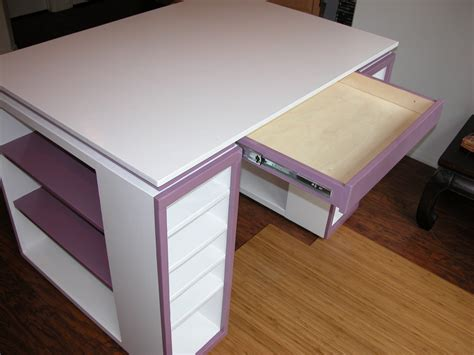 ana white craft desk ana white modern craft table diy projects