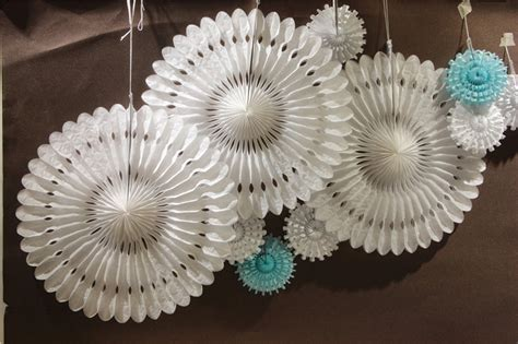 Snowflake Paper Fan 10 10pcs 12cm 40cm snowflake paper fans wedding decoration cut out paper fans festival decor