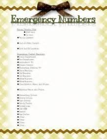 digital scrapbooking made easy emergency numbers