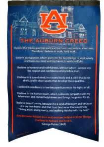 auburn creed felt banner