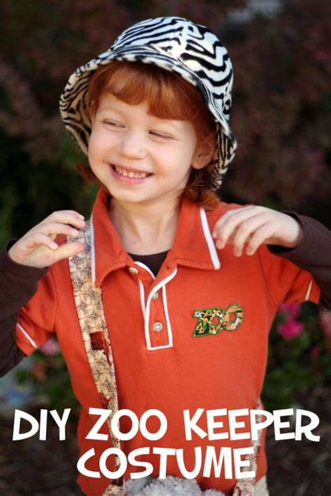 easy diy zoo keeper costume  kids   takes