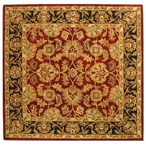 4 x 4 area rugs safavieh heritage black 4 ft x 4 ft square area rug hg628c 4sq the home depot