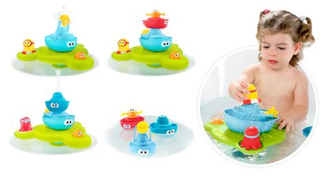 bathtub fountain toy stack n spray tub fountain baby bath toys yookidoo