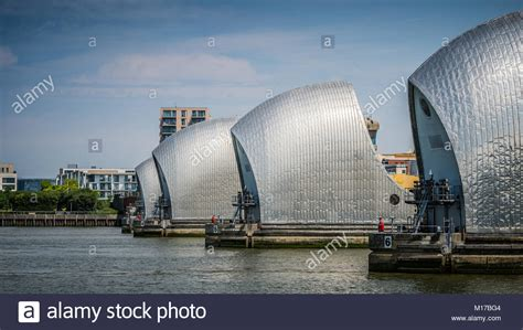 thames defence barrier thames barrier surge stock photos thames barrier surge