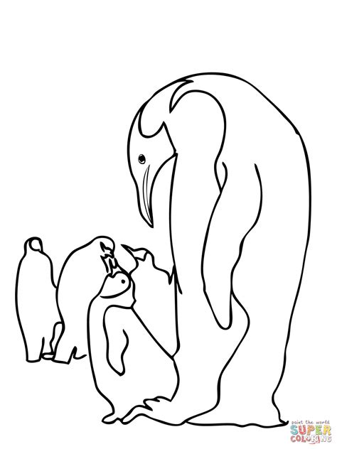 coloring pages emperor penguins emperor penguins family coloring online super coloring