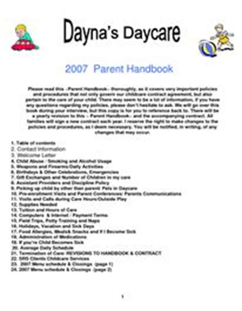 9 Best Home Daycare Images On Pinterest Daycare Ideas In Home Daycare And Daycare Forms Child Care Policies And Procedures Template