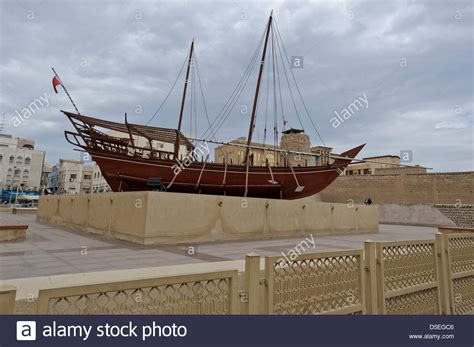 old boat uae an old traditional arabic boat dhow outside dubai museum
