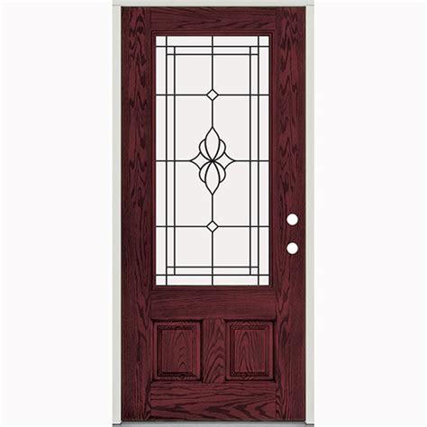 Prefinished Exterior Doors 36 Quot Prefinished Prehung Fiberglass Exterior Door Unit Lh Bargain Outlet