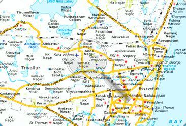 printable chennai road map maps of chennai chennai map