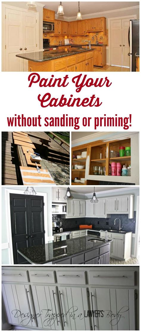 how to paint cabinets without sanding best 25 painting kitchen cupboards ideas on pinterest