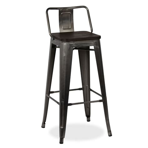 Wooden Stool With Backrest by Ural Square Wooden Seat Stool With Backrest Stools Tolix