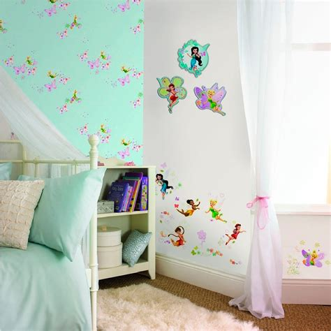 tinkerbell bedroom wallpaper disney tinkerbell wallpaper 1 roll great kidsbedrooms