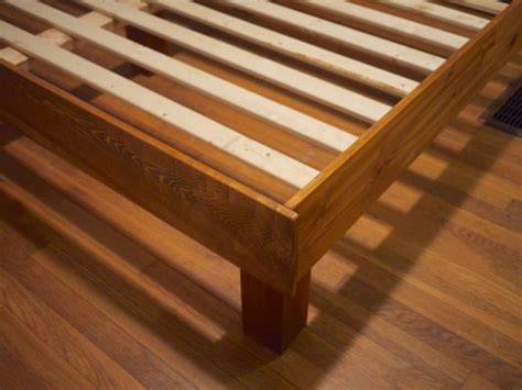 bed frame joints build your own king slat bed they built this for 150