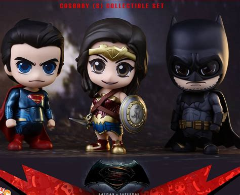 Cosbaby Armored Batman Matte Black From Hottoys toys reveal more batman v superman cosbaby figures