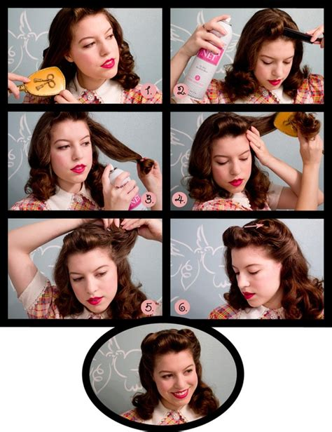 1940s womens hairstyle tutorials vixen vintage 1940 s hair tutorial the beauty thesis